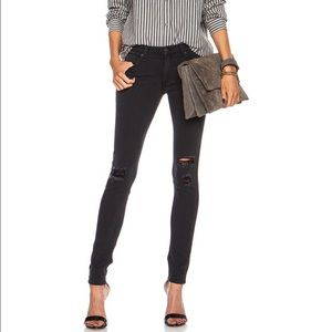 RAG & BONE Black Skinny Ripped Jeans - Size 25